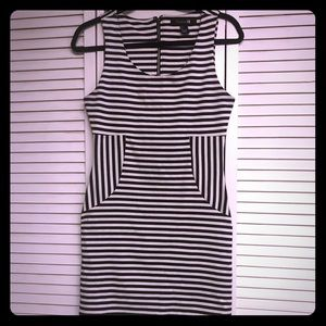 Forever 21 black/white striped mini dress